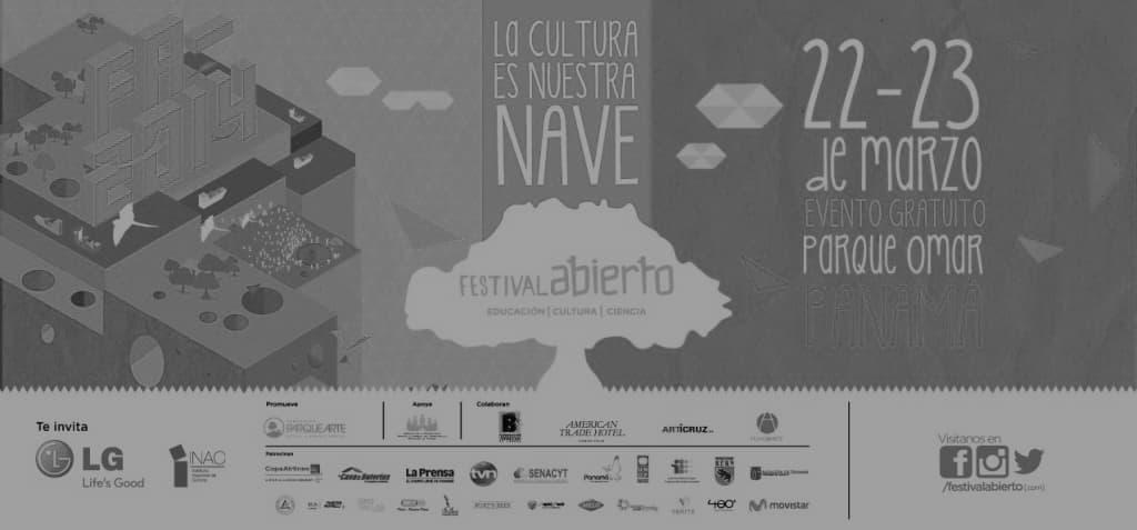 Cartel festival abierto panama logo 480
