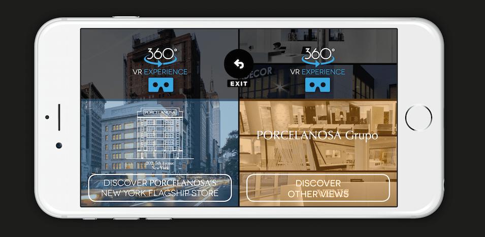 Captura App Porcelanosa VR